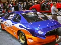 Blue and Orange Tuned Car