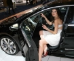 hot girl inside a passat cc
