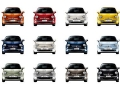 New Fiat 500 - Front Pictures with Multiple Colours