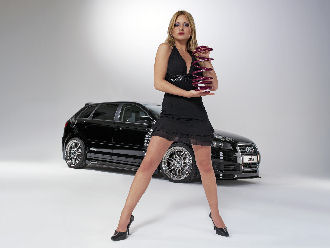 Audi A3 and Sexy Babe
