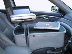 Mobile Laptop Desk with Printer