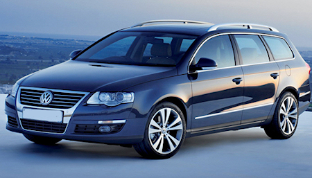 Blue Passat Wagon