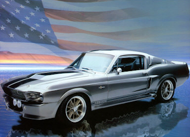 Beautiful Shelby Mustang - American Flag