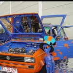 Bodensee Tuning Ugly Orange and Blue VW Golf 1