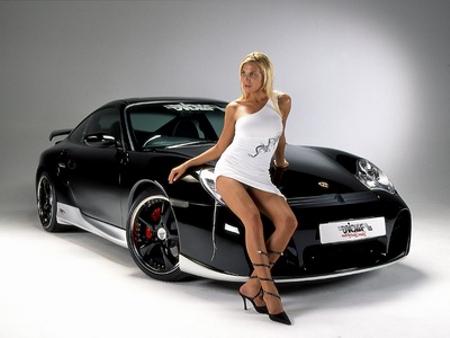 Porsche 911 Turbo Babe Image