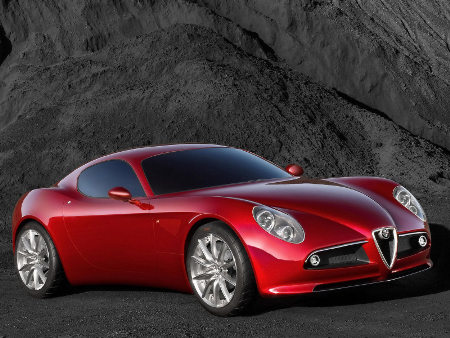 Alfa Romeo 8c. Under the Hood of the 8C This car weighs a hefty 3500 lbs,