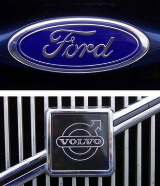 Ford and Volvo Logos
