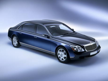 Blue Maybach 62 - Side View